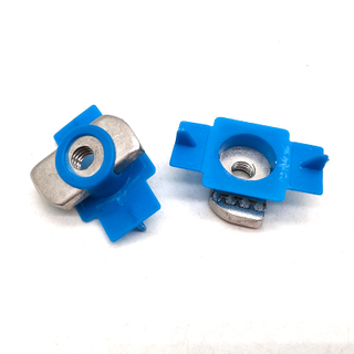Hot Dip Galvanized Carbon Steel Channel Nut Spring Nut with Plastic Wing