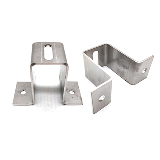 Stainless Steel U Shaped Hook Bracket Channel Clamp Metal Wall Brackets for Mounting