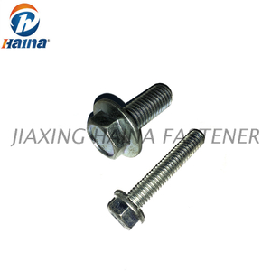 Zinc Plated Hex Flange Serrated Bolt- DIN6921