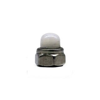 OEM Stainless Steel SS304 / 316 Hexagon Domed White Nylon Cap Nuts