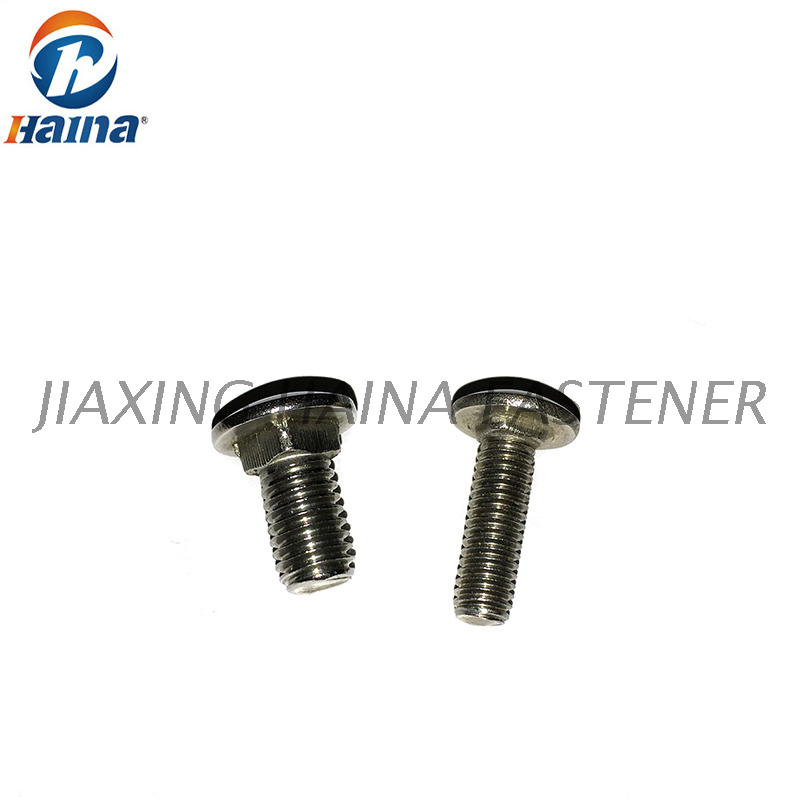 DIN603 Stainless Steel A2-70 SS304 SS316 Carriage Bolt , Mushroom Round Head With Square Neck Bolts