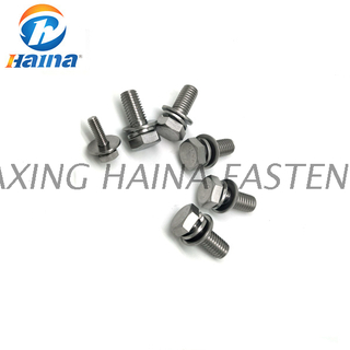 Stainless Steel A2-70 316L Hex Head SEM Combine Machine Screw