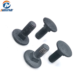 DIN 603 / DIN 608 Carbon Steel Galvanized HDG Round / Mushroom Head Square Neck Carriage Bolt