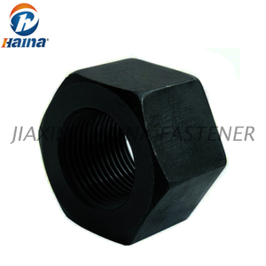 Gr 8 Carbon steel High Tensile Black DIN6915 Hex Heavy Nuts