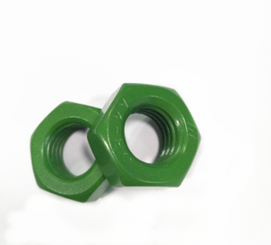 A2-70 A4-80 Stainless Steel 316 304 Green Teflon Hex Nut DIN934